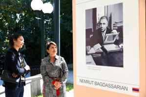 First Lady Nune Sarkissian had a visit some of the locations of the 1st Armenian International Photo Festival with accompanied Tatev Mnatsakanyan