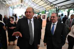 H E Mr Armen Sarkissian President of the Republic of Armenia and H E Mr Zohrab Mnatsakanyan Minister of Foreign Affairs of the Republic of Armenia